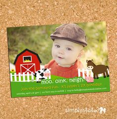 Hey, I found this really awesome Etsy listing at http://www.etsy.com/listing/96600748/barnyard-farm-fun-custom-kids-birthday