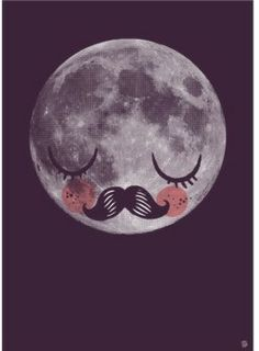 """Man in the moon"" by Martin Krusche  Make it a poster! o.o"