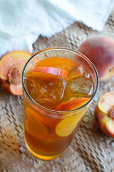 Peach Iced Tea Recipe - This sun tea is infused with fresh ripe peaches and honey. A refreshing and natural summertime beverage! Sun Tea Recipes, Peach Ice Tea, Ripe Peach, Cookie Do, Brewing Tea, Cookies Policy, Peaches, Beverages, Drinks