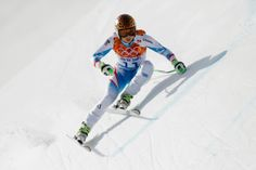 Alpine Skiing - Winter Olympics Day 3 - SOCHI, RUSSIA - FEBRUARY 10: Anna Fenninger of Austria in action during the Alpine Skiing Women's Super Combined Downhill on day 3 of the Sochi 2014 Winter Olympics at Rosa Khutor Alpine Center on February 10, 2014 in Sochi, Russia. (Photo by Ezra Shaw/Getty Images)