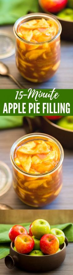 Scrumptious APPLE PIE FILLING is quick and easy to make right on your stovetop! This essential 15-minute recipe produces the best homemade apple pie filling you've ever tasted. So incredibly yummy! | #ApplePie #Filling #Recipe #Scratch #Homemade #stovetop