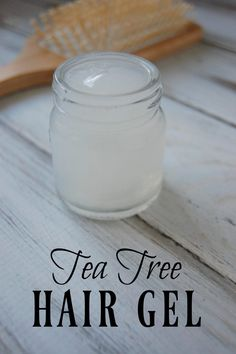With this Tea Tree Hair Gel, you not only avoid harmful ingredients but supply beneficial ingredients to your hair! With this Tea Tree Hair Gel, you not only avoid harmful ingredients but supply beneficial ingredients to your hair! Beauty Tips For Face, Natural Beauty Tips, Natural Hair Styles, Curly Hair Styles, Face Tips, Natural Hair Gel, Natural Skin, Hair Beauty, Organic Beauty
