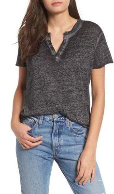 e7b67a16086a BP Notch Neck Cotton Blend Tee Plus Size Online Shopping