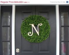 JULY 4TH SALE Custom Artificial Boxwood Wreath by ElegantWreath