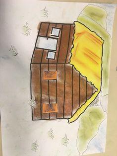 Les 4 tekening in de bergen