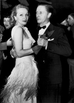 Marlene Dietrich and husband Rudolf Sieber on the dance floor of a New York night club - November, 1941