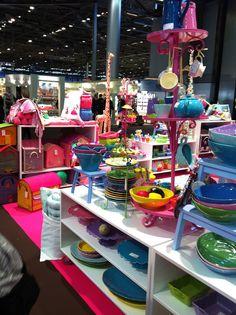 rice : merchandising at Maison et objets.  Great colour combinations