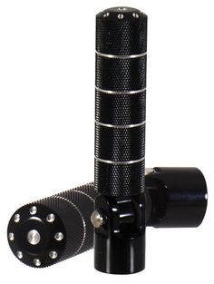 Black Knurled Foot Pegs Set Fold-Up Mounts (NEW) #MidUSA