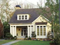 Small House Exterior Simple Design Home Plans 4 Colors Small Cottage House Plans, Small Cottage Homes, Southern Living House Plans, Simple House Plans, Cottage Plan, Cottage Style Homes, Best House Plans, Small Cottages, Cozy Cottage