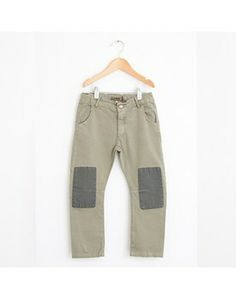 BOBO CHOSES ♥ TROUSERS TWILL / CHINO FIT PATCH, ARMY