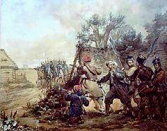 Plik:Battle of Miechów Battle, Map, Polish, Painting, January, Historia, Vitreous Enamel, Location Map, Painting Art