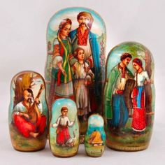 Amazon.com - Ukrainian Folk Life Wooden Nesting Doll -