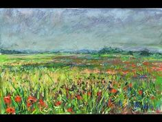 Poppies in Sunset - Pastel & water, for Derek. - YouTube