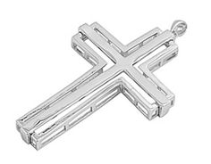 Plain Dazzling Cross Religious Pendant Oxidized Finished 925 Sterling Silver Pendant For Necklace Religious Christianity Jewelry Pendant