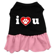 Mirage Pet Products I Heart You Dresses Black with Pink XXL (18) > Remarkable product available now. : Dog Dresses