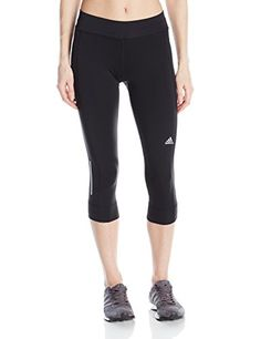 adidas Performance Womens Sequencials ThreeQuarter Tights Black Small -- Want additional info? Click on the image.