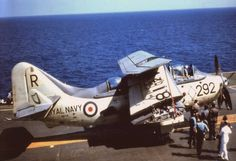 Gannet AS4, XA418 of 815 NAS, onboard Ark Royal,1958,photo by Mark Taylor‎ .