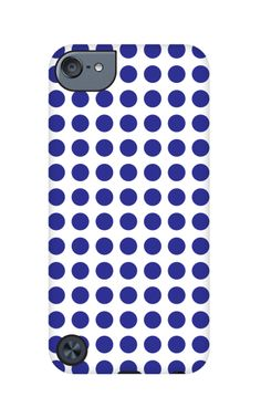 Blue Polka Dots iPod Touch case