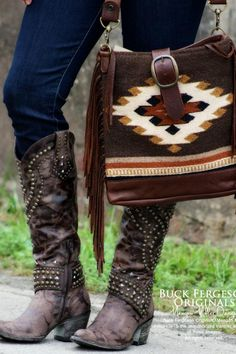 ☮ American Hippie Bohéme Boho Style ☮ Bag and Boots
