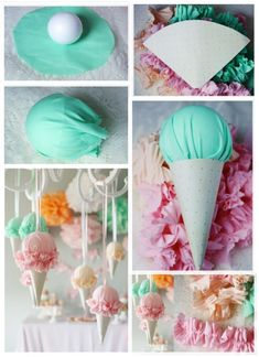 Ice Cream Theme, Ice Cream Party, Diy Party Decorations, Party Themes, Baby Birthday, Birthday Parties, Christmas Stage Design, Sundae Party, Candy Land Theme