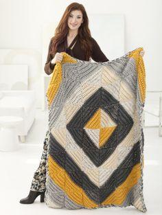 Sun And Shadows Afghan - free crochet pattern