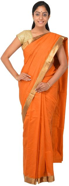 POTHYS Women's Tussar Silk Saree (PDS387, Mustard Colour): Amazon : Clothing & Accessories  http://www.amazon.in/gp/product/B0166XD0LA/ref=as_li_tl?ie=UTF8&camp=3626&creative=24822&creativeASIN=B0166XD0LA&linkCode=as2&tag=onlishopind05-21  #Pothys #Silk #Sarees