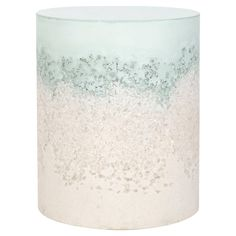 Celadon Cement, Rock Salt and Sand Drum stool by Fernando Mastrangelo, formerly one-half of AM|MA
