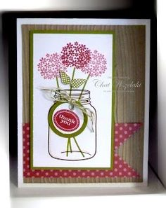 Stampin' Up! Thank You Card  by Chat Wszelaki at Me, My Stamps and I: Perfectly Preserved