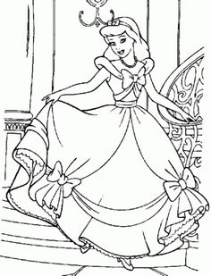 Beautiful Princess Cinderella Coloring Pages