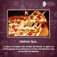 ¿#SabíasQue La pizza es el plato más comido del mundo?#Curiosidades#Gastronomía