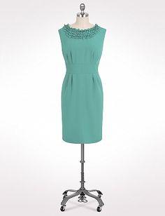 Plus Size Ruffle Neck Sheath Dress   Dressbarn