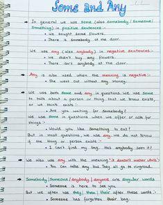 English Grammar Notes, Teaching English Grammar, English Grammar Worksheets, English Verbs, English Writing Skills, English Language Learning, Grammar And Vocabulary, English Vocabulary Words, Learn English Words