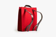 Knoll Debuts a Line of Smart Felt Bags 2014 Tote Backpack, Leather Backpack, Bags 2014, Shopper, Hobo Bag, Fashion Bags, Style Fashion, Bag Making, Leather Handbags