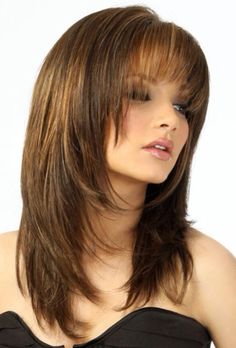 You want to have bangs but with a layered haircut! No worries, here's the solution!