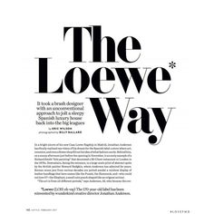 The Loewe Way ❤ liked on Polyvore featuring text, words, magazine, article, filler, phrase, quotes and saying