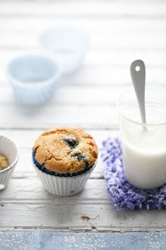 Blueberry, Lemon and Olive Oil Muffins (gluten free)