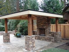 How To Find Backyard Porch Ideas On A Budget Patio Makeover Outdoor Spaces. Upgrading your backyard with a decorative concrete patio is likewise an in. Backyard Gazebo, Backyard Seating, Fire Pit Backyard, Backyard Landscaping, Landscaping Ideas, Outdoor Fire Pits, Backyard Fireplace, Build Outdoor Fireplace, Gazebo With Fire Pit