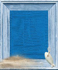 Sailboat Knitted Dishcloth