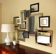 3D-Gallery http://inmyownstyle.com/2011/02/how-to-create-a-3-d-gallery-wall.html#