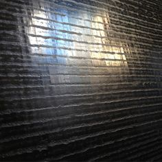 Loving our new texture striped custom plaster wall finish in sexy black. #wall #plaster #wallpaper #design #decorate #black