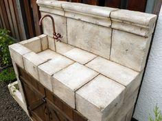 モルタル造形ガーデンシンク
