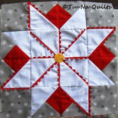 Did you know there's a song about a poinsettia? It starts out: ♪ Percy the puny poinsettia Is hanging his bloom in dismay If they had just kept him wetta He'd be a houseplant today Fol… Quilting Tips, Quilting Projects, Hunters Star Quilt, Christmas Sewing Projects, Old Quilts, Quilt Blocks, Quilt Patterns, Wish, Houseplant