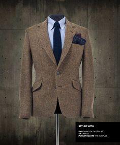 Harris Tweed blazer by Blake London – a snip at £850 (yeow). Very nicely accessorised.