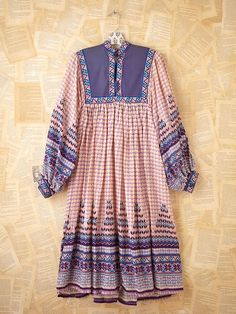 Vintage Cotton Boho Dress - Vintage?  Hey!  This was my dress.  My husband hated it.