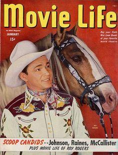 Roy Rogers - Movie Life Magazine [United States] (January 1945)