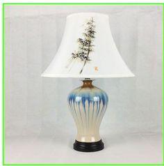 中国風 電気スタンド 陶磁品 室内照明 リビング照明