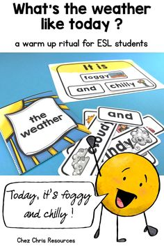 Warm Up Activity : Days, Months, Ordinal Numbers and Weather Labels Interactive Activities, Literacy Activities, Learning Resources, Teacher Resources, Teaching Ideas, Esl Resources, School Resources, Weather Like Today, English Language Learners
