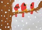 Artsonia Art Exhibit :: Winter Cardinals; members (free) may download accompanying lesson plan