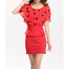 Sexy Scoop Neck Printed Ruffled Bodycon Dress For Women