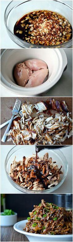 Salade de poulet ail et miel